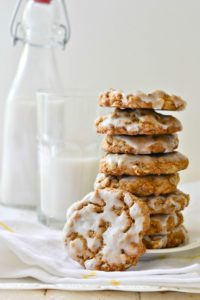 Iced Oatmeal Cookies #glutenfree #vegan