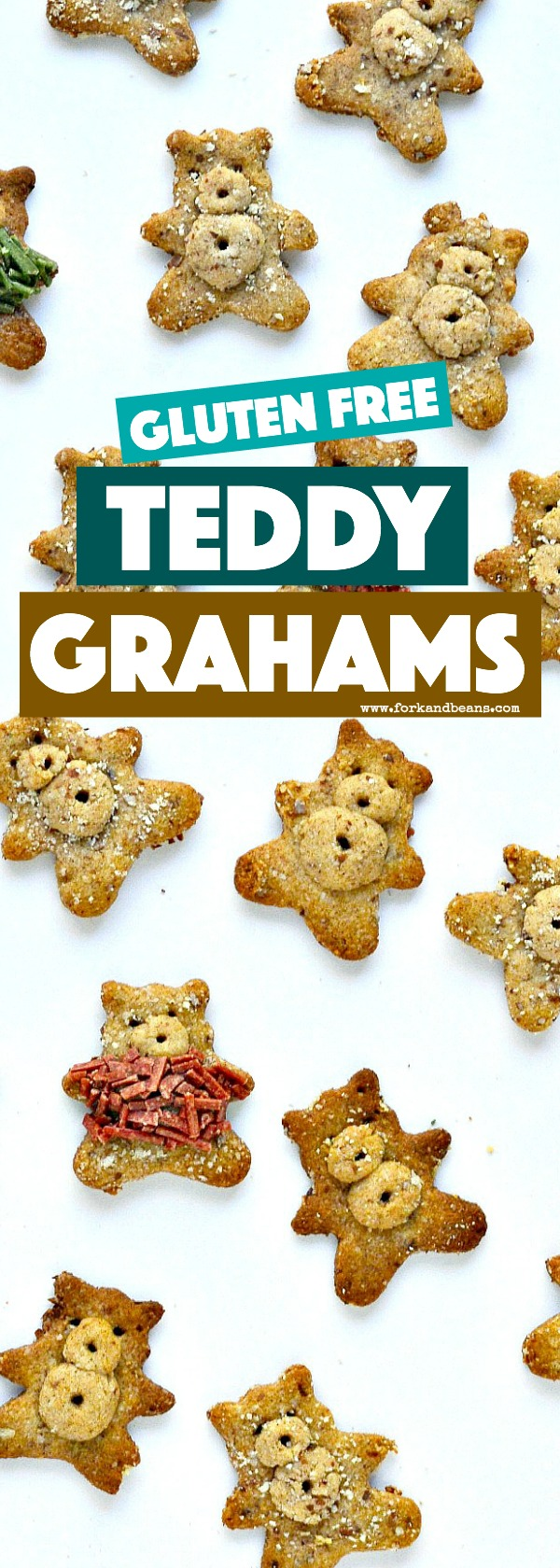 These gluten free Cinnamon Teddy Grahams are a special recreation to put into your kid's lunchbox.