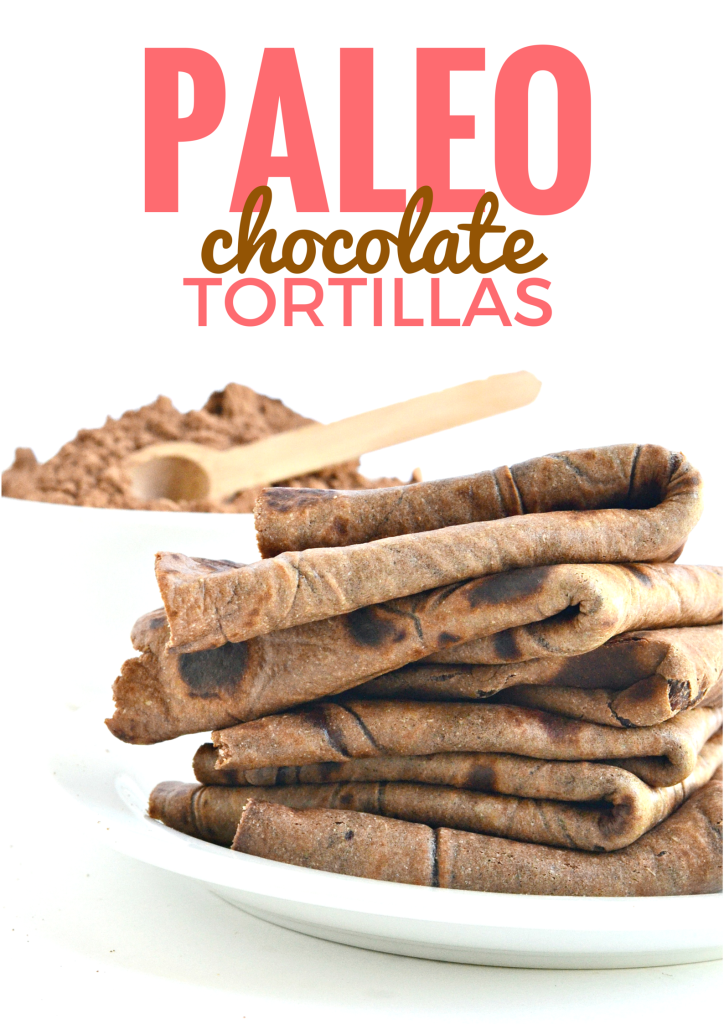 Lightly sweetened with raw honey these Paleo Chocolate Tortillas make quite the dessert!