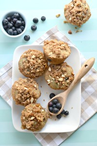 Easy gluten free blueberry streusel muffins with the most tender bite!