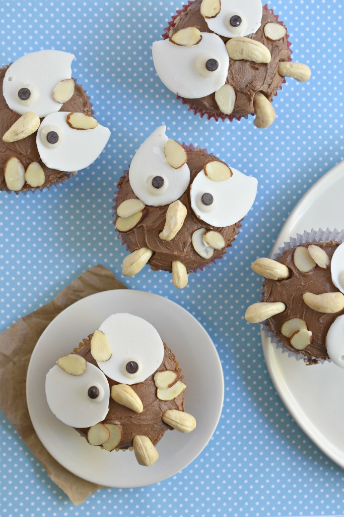 Thanksgiving celebratory Owl Cupcakes that are gluten free AND vegan!