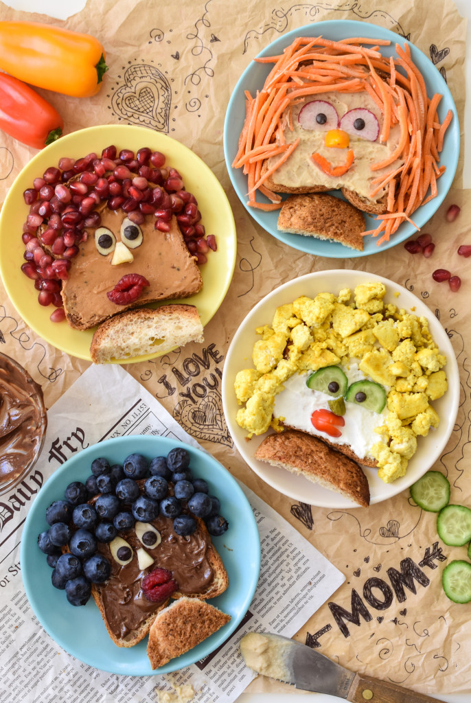 "Make mom these edible portraits with these Mothers Day Breakfast Toasts. They are such a fun and easy way to tell mom ""I love you!"""