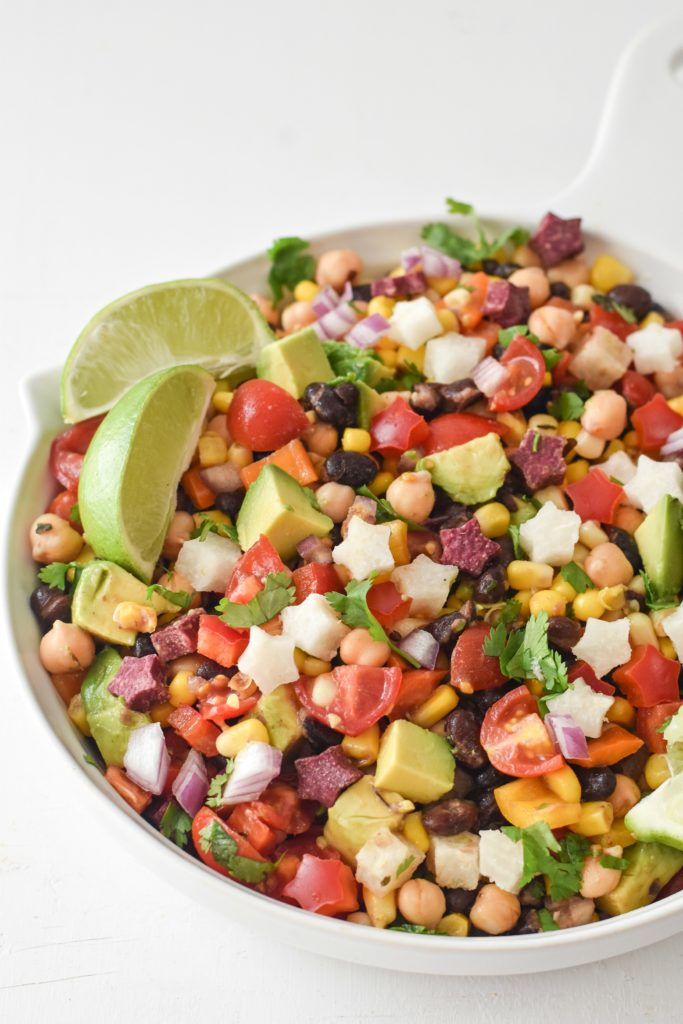 Full of protein and packed with the freshest veggies, this California Style Cowboy Caviar will be the biggest hit of every summer BBQ.