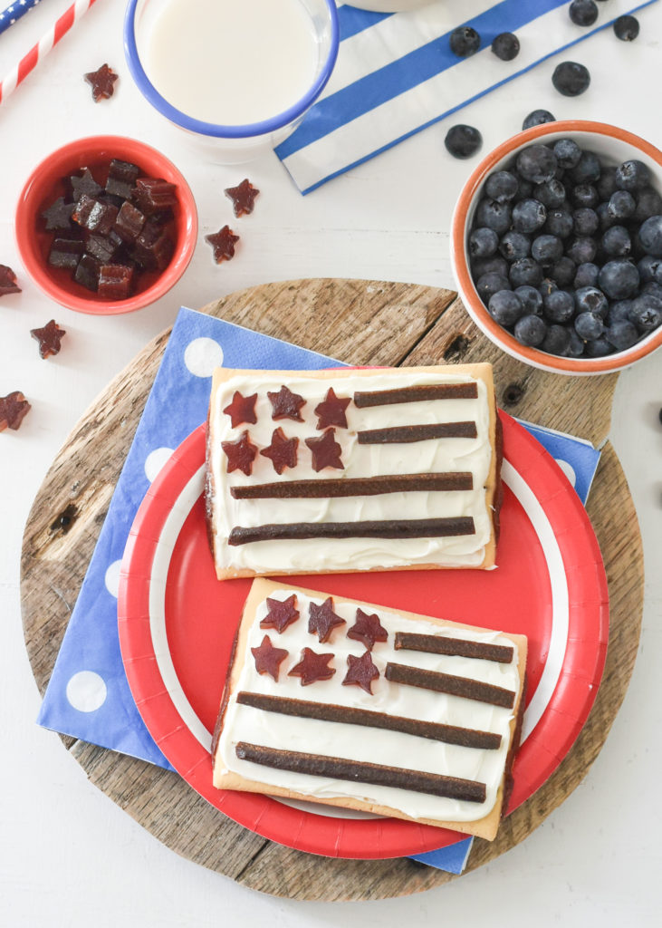 Turn breakfast into a patriotic treat by turning them into gluten free American Flag PopTarts. Your kids will salute their plates!