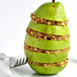 Raw Pear Crumble Stacks