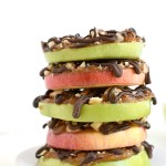 Healthy Caramel Apple Slices